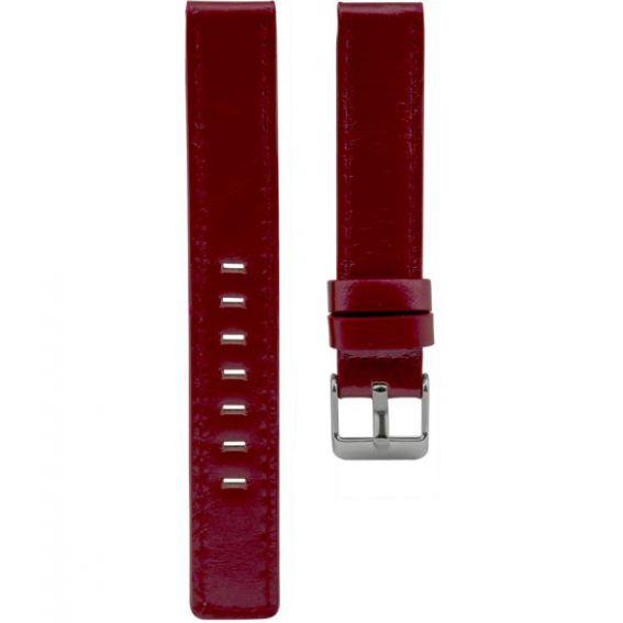 110.16 - red 16 mm. - Bracelet pour montre Oozoo