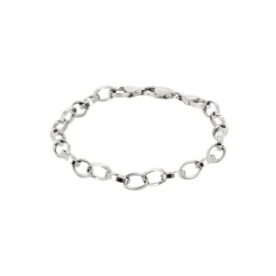 Bijou en argent - Bracelet mesh silver oval convict