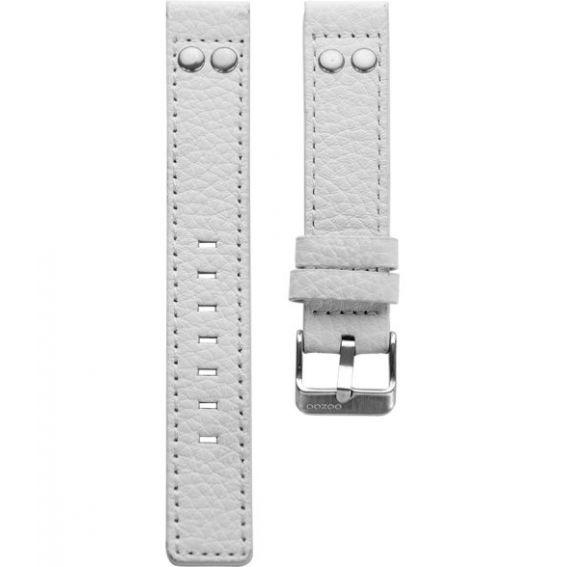 900.20 - white studs JR 20 mm. - Bracelet pour montre Oozoo