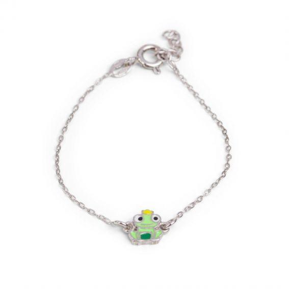 Bracelet prince crapaud - Bijoux en argent - Bracelet enfant en argent