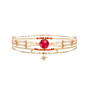 Bracelet Hipanema Mambo Red - Bijoux de la marque Hipanema