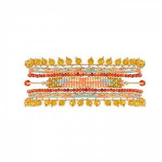 Hipanema - Puebla coral cuff