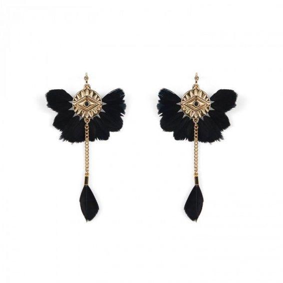 Hipanema - Earrings Yucatan Black