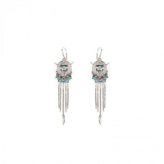 Boucles d'oreilles Hipanema Saloon Silver - Bijoux de marque Hipanema