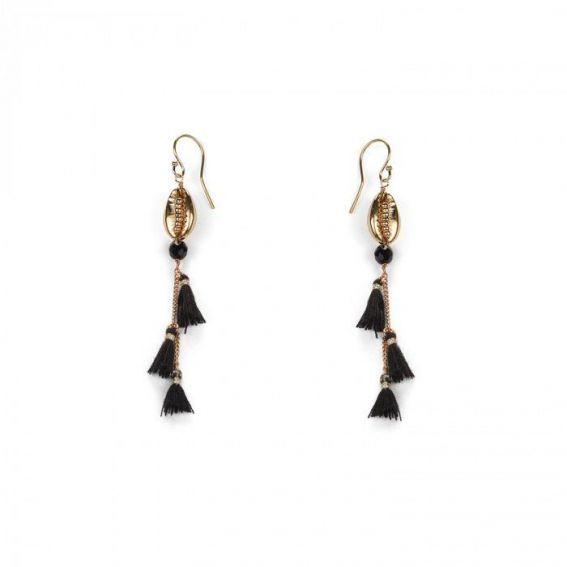Boucles d'oreilles Hipanema Waterfall Black - Bijoux de marque Hipanema