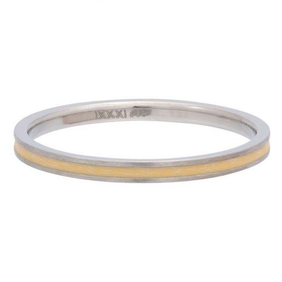 Anneau couvrant ruban jaune iXXXi - Bague et bijoux de marque iXXXi