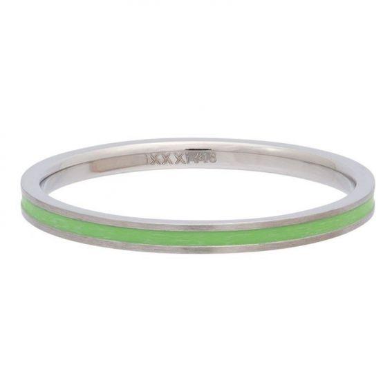 Anneau couvrant ruban vert iXXXi - Bague et bijoux de marque iXXXi