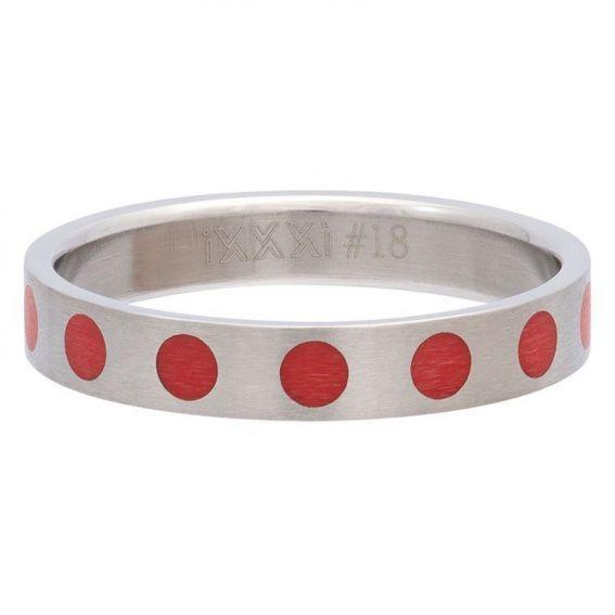 Anneau couvrant points rouges de marque iXXXi - Bagues et Bijoux iXXXi