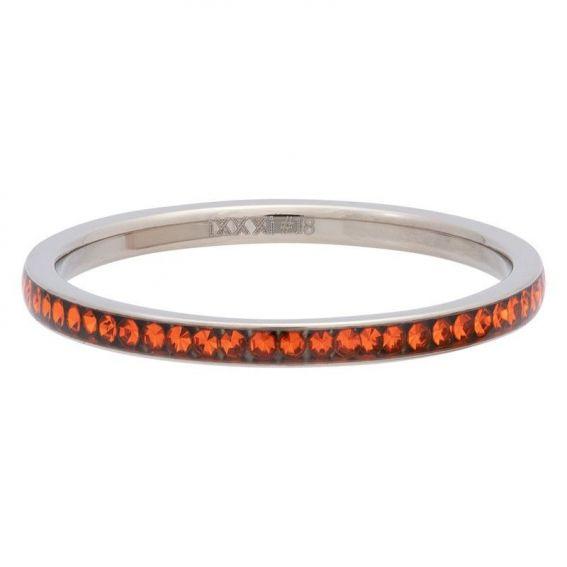 Anneau zirconium orange (sun) iXXXi argenté - Bague et marque iXXXi