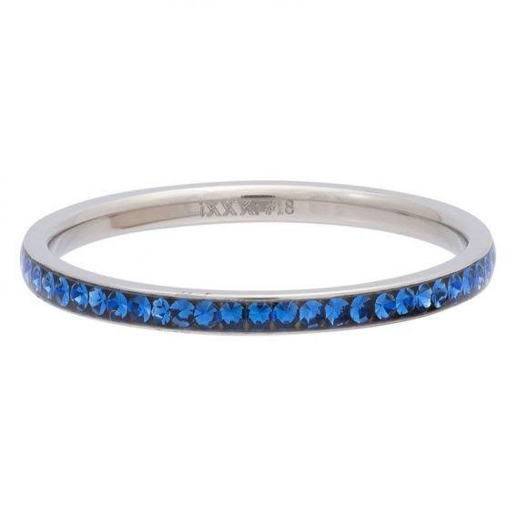 Anneau zirconium bleu vif (Capri) iXXXi argenté - Bague & marque iXXXi