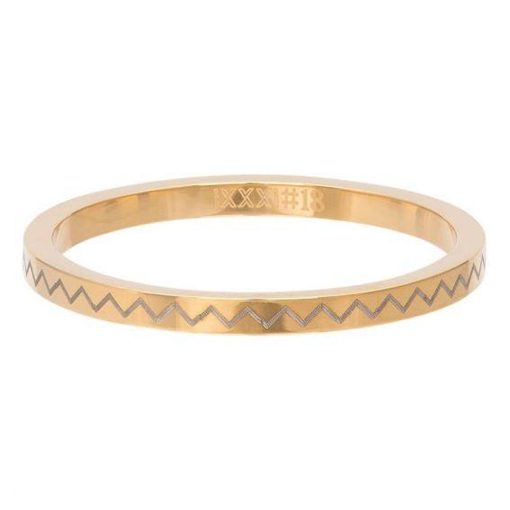 Anneau couvrant Pulsation (Zig-Zag) doré - Bijoux de marque iXXXi