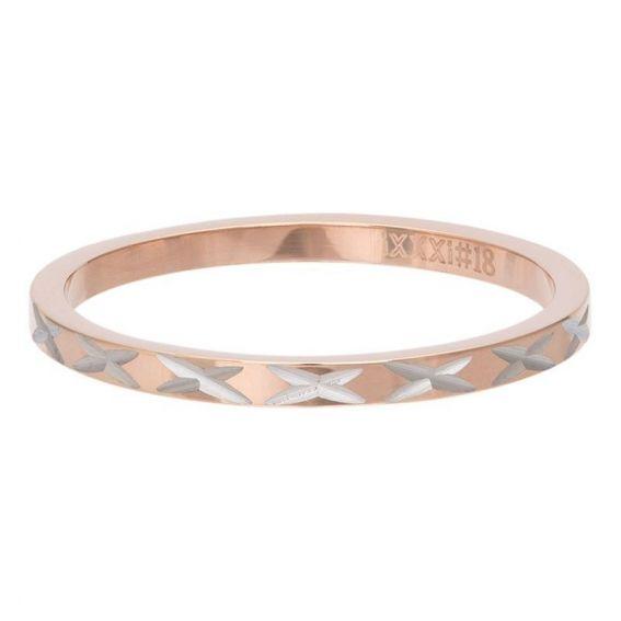 Anneau couvrant iXXXi X-Line rosé - Bijoux de marque iXXXi