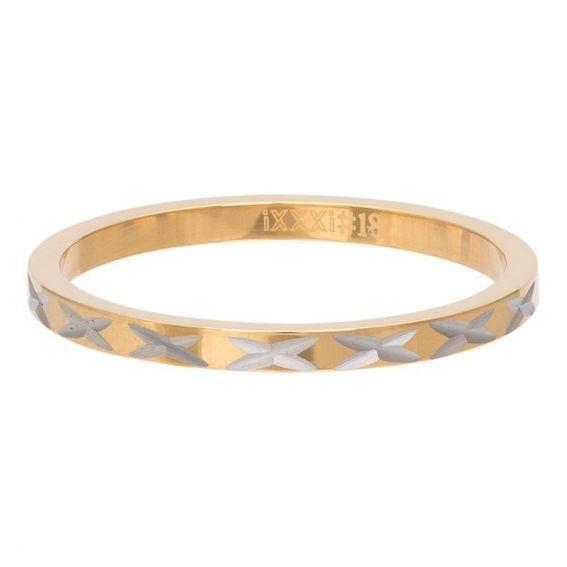 Anneau couvrant iXXXi X-Line doré - Bijoux de marque iXXXi