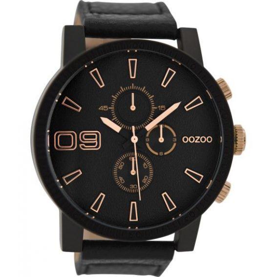 Montre Oozoo Timepieces C9034 Black/Rose - Montre de la marque Oozoo
