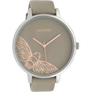 Montre Oozoo Timepieces C10077 Taupe/Rose - Marque montre Oozoo