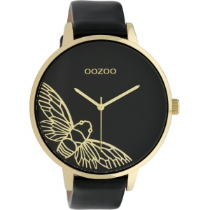 Montre Oozoo Timepieces C10079 Black/Gold - Marque montre Oozoo
