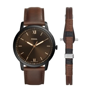 Montre Fossil FS5557SET THE MINIMALIST 3H - Montre Fossil hommes