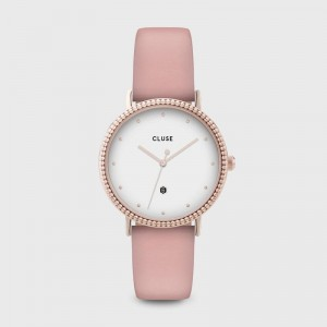 Cluse - The Coronation Rose Gold White / Soft Pink