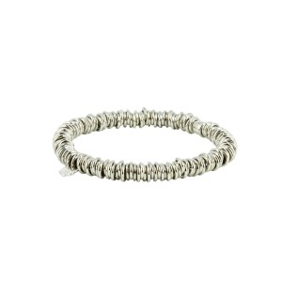 Bijou en argent - elastic bracelet silver rings