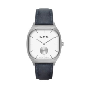 Kartel - KT-Sinclair 40mm-SWNS Navy Blue Stitched Leather strap