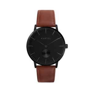 Kartel - KT-KENDRICK 40mm-GBMS Maroon Stitched Leather strap