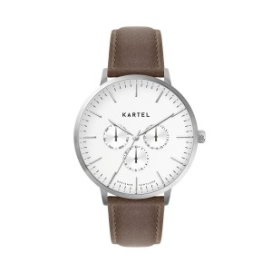 Kartel - KT-Cuillin 43mm-SWUB Brown Stitched Leather Strap