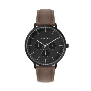Kartel - KT-Cuillin 43mm-BUB Brown Stitched Leather Strap