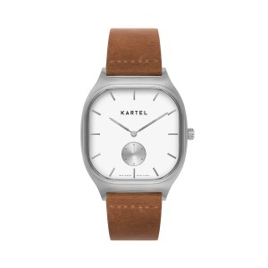 Kartel - KT-Sinclair-SWT 40mm Tan Flat Leather strap