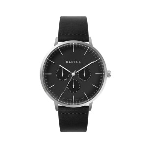 Kartel - KT-Cuillin 43mm-SBB Black Flat Leather Strap