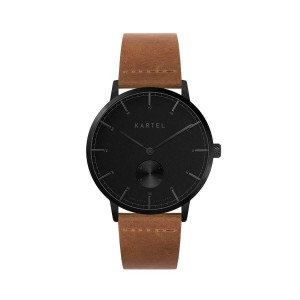 Kartel - KT-KENDRICK 40mm-GBT Tan Flat Leather strap