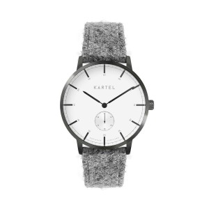 Kartel - KT-KENDRICK 40mm-HTGG Light Gray Harris Tweed strap