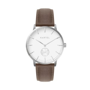 Kartel - KT-40mm-SWUB Kendrick Brown Stitched Leather Strap