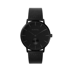 Kartel - KT-KENDRICK GBB 40mm-Black Flat Leather Strap