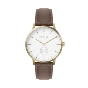 Kartel - KT-KENDRICK 40mm-GLSBR Brown Stitched Leather