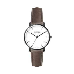 Kartel - KT-Isla 34mm-GMUB Brown Stitched Leather Strap
