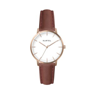 Kartel - KT-Isla 34mm-RGWMA Maroon Stitched Leather strap