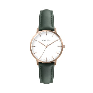 Kartel - KT-Isla 34mm-RGWG Green Stitched Leather
