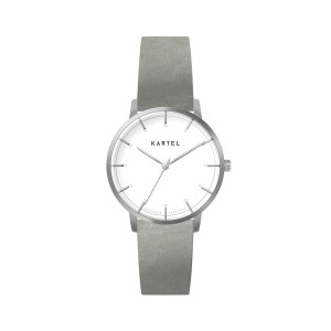 Kartel - KT-ISLA 34mm-SWFPG Pale Gray Leather Flat