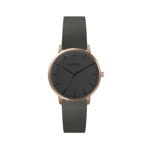 Kartel - KT-ISLA 34mm-RGBFCG Charcoal Gray Leather Flat