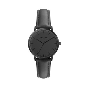 Kartel - KT-Isla-34mm GBB Black Stitched Leather strap