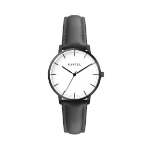 Kartel - KT-Isla 34mm-GMB Black Stitched Leather strap