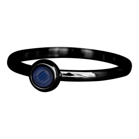 iXXXi - Solitaire iXXXi black navy natural stone - Size 19