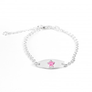 Bijou en argent - Regimental child enameled star burn
