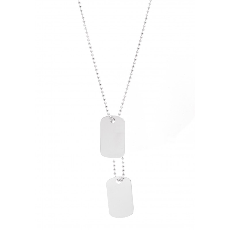 collier homme double