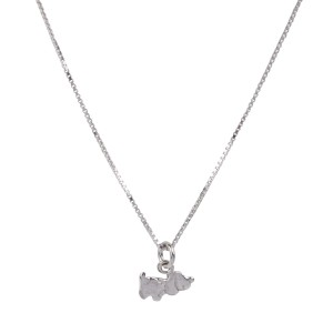 Bijou en argent - Small Dog Pack pendant + String