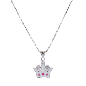 Bijou en argent - Pack Crown Pendant Chain +