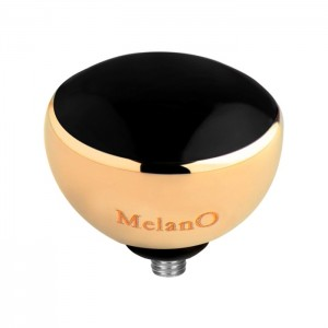 Melano - Twisted golden black resin