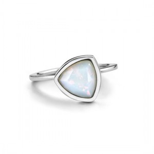 Melano - Small moonstone ring & prierre