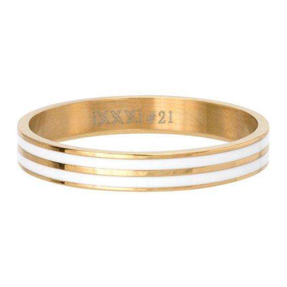 Anneau couvrant iXXXi Double line doré - Bijoux de marque iXXXi