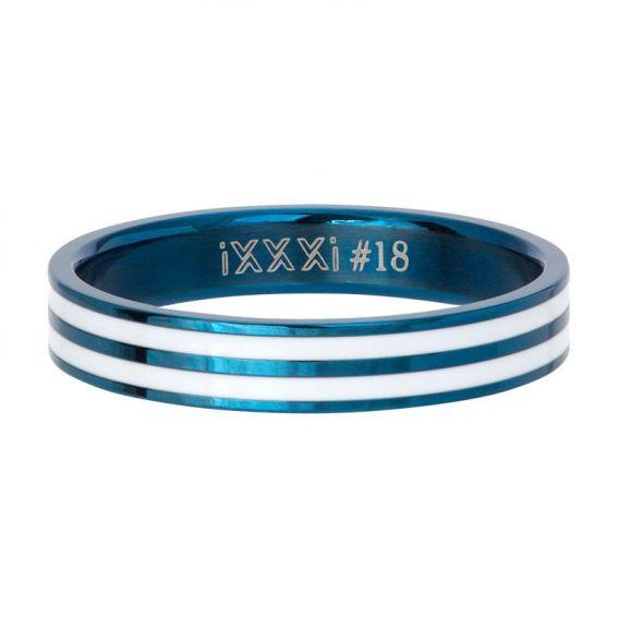 Anneau couvrant iXXXi Double line bleu - Bijoux de marque iXXXi